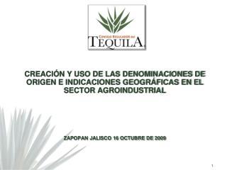 CREACI N Y USO DE LAS DENOMINACIONES DE ORIGEN E INDICACIONES GEOGR FICAS EN EL SECTOR AGROINDUSTRIAL      ZAPOPAN JALIS