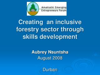 Creating  an inclusive forestry sector through skills development