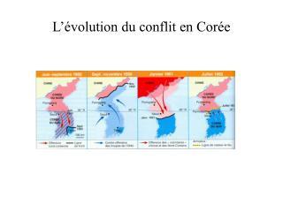 L  volution du conflit en Cor e