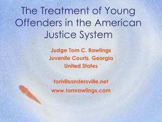 The Treatment of Young Offenders in the American Justice System