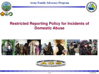 Restricted Reporting for Incidents of  Domestic Abuse