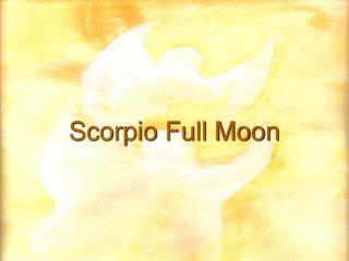 Scorpio Full Moon