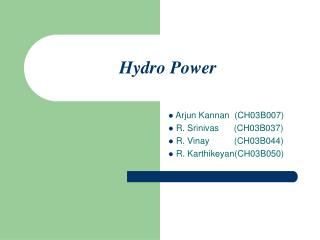 Hydro Power