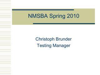 NMSBA Spring 2010