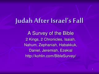 Judah After Israel s Fall