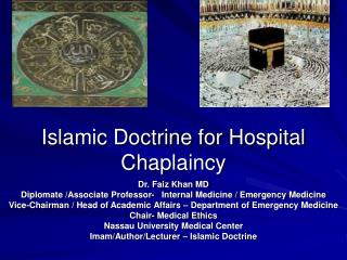 Islamic Doctrine for Hospital Chaplaincy