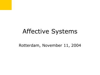 Affective Systems
