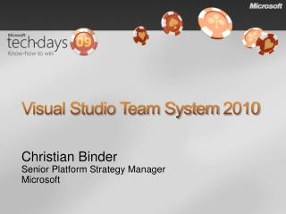 Visual Studio Team System 2010