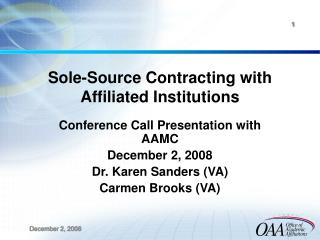 Sole-Source Contracting with Affiliated Institutions