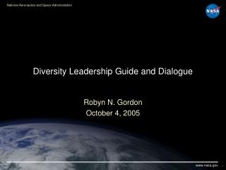 Diversity Leadership Guide and Dialogue