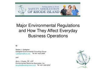 Major Environmental Regulations and How They Affect Everyday Business Operations