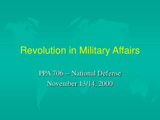 Revolution in Military Affairs