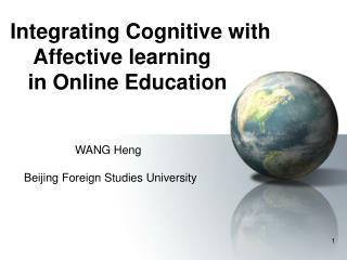 Integrating Cognitive with Affective learning in Online ...