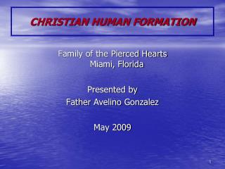 CHRISTIAN HUMAN FORMATION