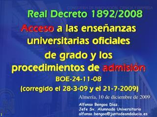 Real Decreto 1892