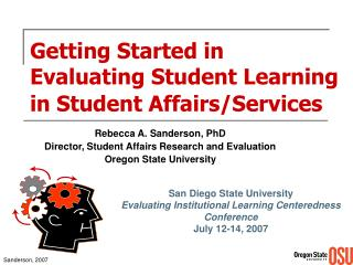 Getting Started in Evaluating Student Learning in Student Affairs