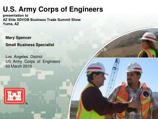 U.S. Army Corps of Engineers  presentation to AZ Elite SDVOB Business Trade Summit Show Yuma, AZ