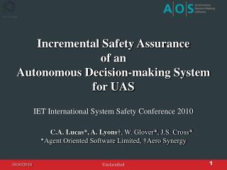 IET International System Safety Conference 2010