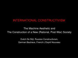 INTERNATIONAL CONSTRUCTIVISM