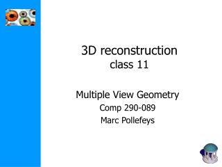 3D reconstruction class 11