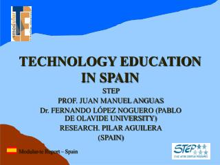 TECHNOLOGY EDUCATION IN SPAIN
