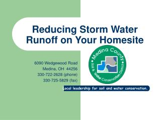 Reducing Storm Water Runoff on Your Homesite
