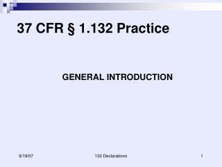 37 CFR   1.132 Practice