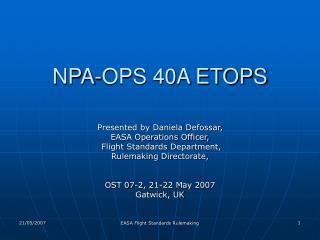 NPA-OPS 40A ETOPS