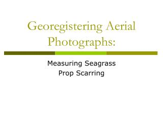 Georegistering Aerial Photographs: