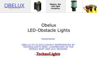 Obelux LED-Obstacle Lights