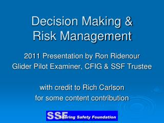 Decision Making   Risk Management