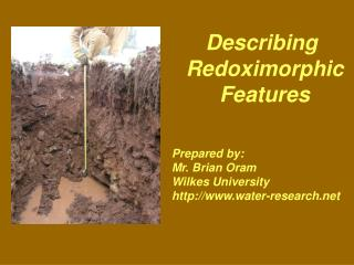 What is a redoximorphic feature  What is the difference between mottling and redoximorphic features How do these feature