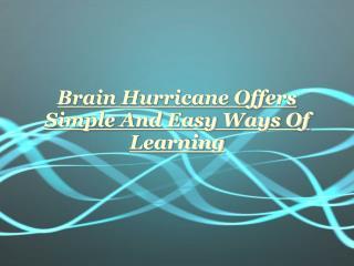 Brain Hurricane Chicago