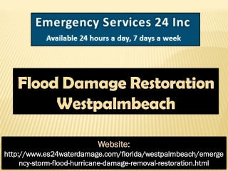 Flood Damage Restoration Westpalmbeach