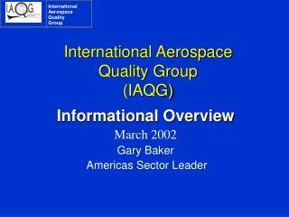 International Aerospace  Quality Group IAQG