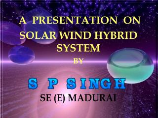 A  PRESENTATION  ON  SOLAR WIND HYBRID SYSTEM  BY
