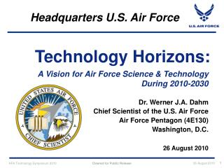 Overarching Themes for Vectoring Air Force ST During 2010-2030