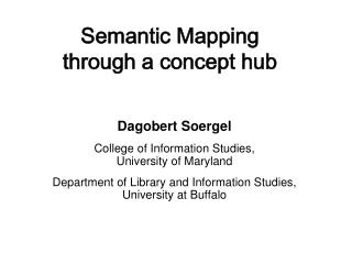 Semantic Mapping through a concept hub