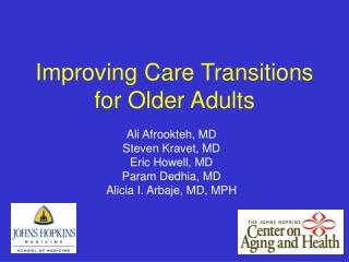 Improving Care Transitions for Older Adults