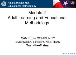 Module 2 Adult Learning and Educational Methodology