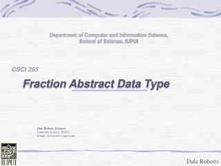 Abstract Data Type Example