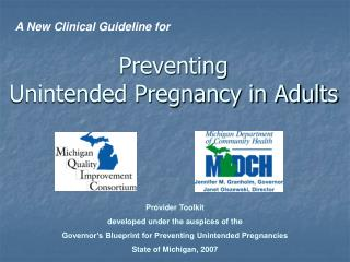 Preventing  Unintended Pregnancy in Adults