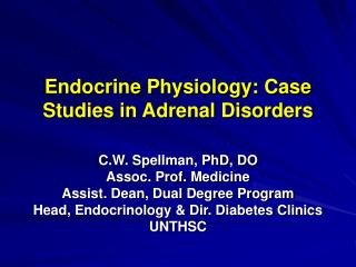 Endocrine Physiology: Case Studies in Adrenal Disorders