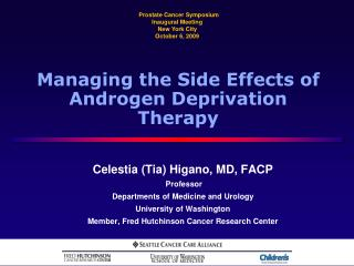 Managing the Side Effects of Androgen Deprivation Therapy