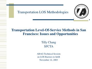 Transportation LOS Methodologies