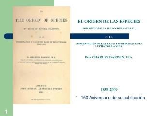 EL ORIGEN DE LAS ESPECIES II