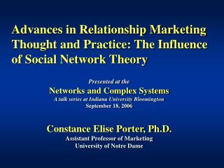 Advances in Relationship Marketing Thought and Practice: The ...