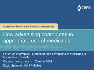 How advertising contributes to appropriate use of medicines