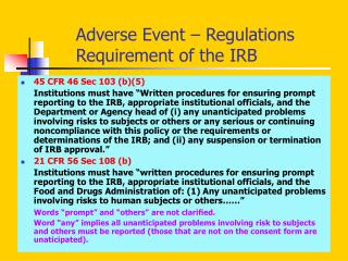Adverse Event