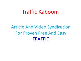 Traffic Kaboom Review - Check Traffic Kaboom